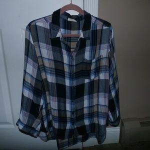 Plaid Shirt 1X  Hi-Lo-Jane & Delancey